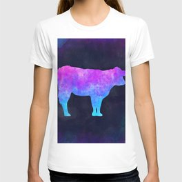 COW IN SPACE // Animal Graphic Art // Watercolor Canvas Painting // Modern Minimal Cute T-shirt
