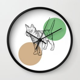 cat in the circle Wall Clock
