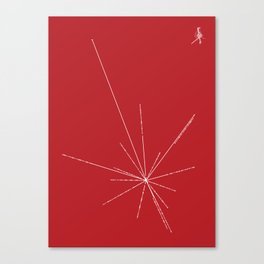 Voyager Golden Record Fig. 3 (Red) Canvas Print