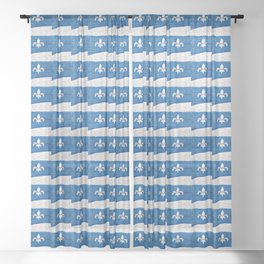 Vive le Quebec! Sheer Curtain