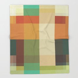 Retro Geometry Throw Blanket