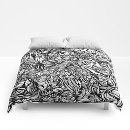 Conquer (Black & White Version)  Comforters