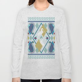 Paisley and Horse Long Sleeve T-shirt