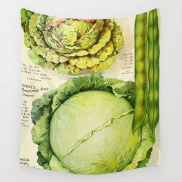 Vintage Vegetable Advertisement (1907) Wall Tapestry