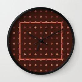 Burgundy Dots Wall Clock