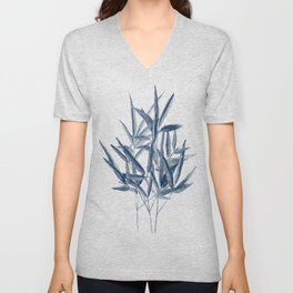 Bamboo watercolor painting Unisex V-Neck