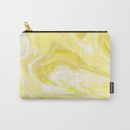 Yellow Glowing Marble Carry-All Pouch