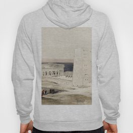 Temple of Edfou ancient Appolinopolis in upper Egypt  by David Roberts (1796-1864) Hoody
