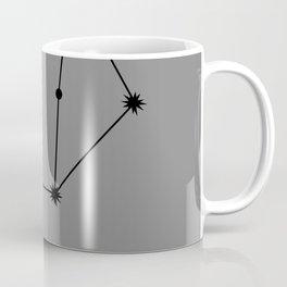 LIBRA (BLACK-GREY STAR SIGN) Coffee Mug