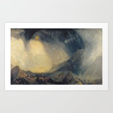 Joseph Mallord William Turner 1775–1851   Snow Storm, Hannibal and his Army Crossing the Alps Art Print