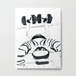 Dumbell bench press Metal Print