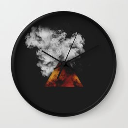 Triangle of Fire & Smoke Wall Clock