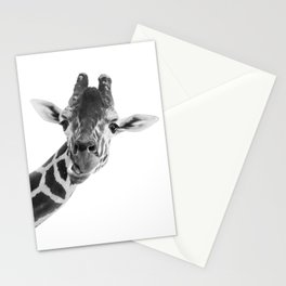 Giraffe Portrait // Grey Wild Animal Cute Zoo Safari Madagascar Wildlife Nursery Decor Ideas Stationery Cards
