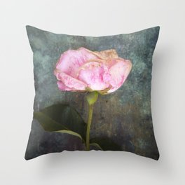 Wilted Rose III Throw Pillow