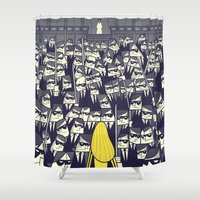 ale giorgini Shower Curtains featuring Crazy 88 by Ale Giorgini