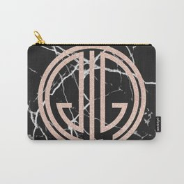 great Gatsby rose gold black marble Carry-All Pouch