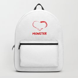 I Love My Little Pooping Monster Guinea Pig Cavy Rodents Cavia Pets Gift Backpack