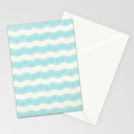 Blue circles over beige Stationery Cards