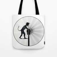 work hard Tote Bags featuring Hard Work by siloto