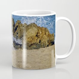 Frothy Spray on Rocks Coffee Mug
