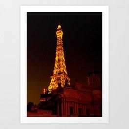 Paris le Vegas Art Print