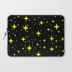 Bright Yellow Stars in Space , Cristmas Stars Laptop Sleeve