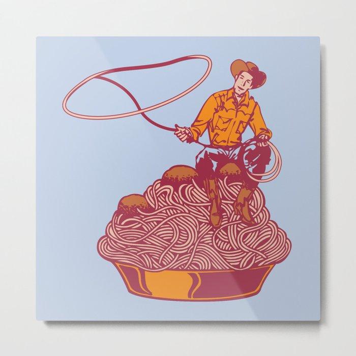 Spaghetti Western Metal Print