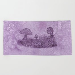 Fungi Meadow Beach Towel