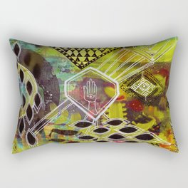 """""""Visuals for Airports #1"""" Original Painting by Lynzee Lynx Rectangular Pillow"""