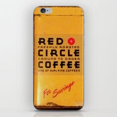 Red Circle Coffee iPhone & iPod Skin