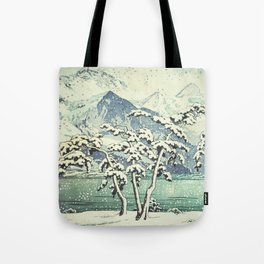 Seasonal Snow at Dara Tote Bag