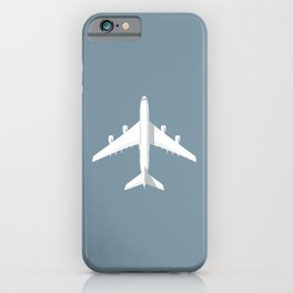 A380 Super Jumbo Jet Airliner - Slate iPhone Case