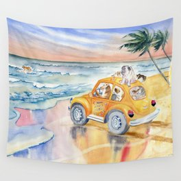 Dogs On Vacation Wall Tapestry