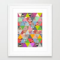 lost Framed Art Prints featuring Lost in ▲ by Bianca Green