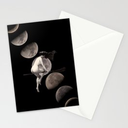 Moon Phases with Vintage Witch Stationery Cards