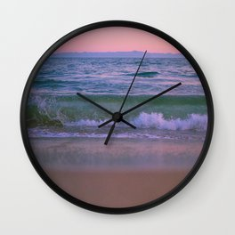 Twilight Waves Wall Clock