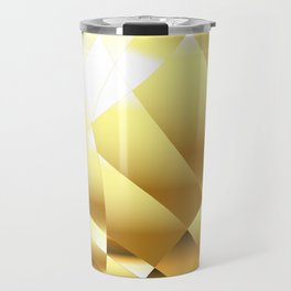 Golden Polygonal Background Travel Mug
