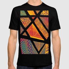 Geometric doodle pattern - multicolor T-shirt