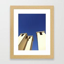 Blue sky, Morocco Framed Art Print