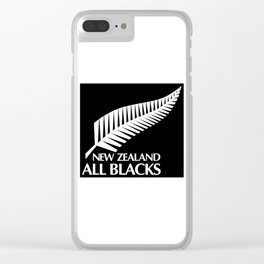 All Blacks Clear iPhone Case