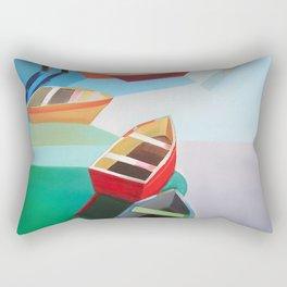 Five Boats Rectangular Pillow