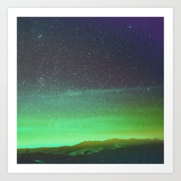 Sky lights and Star lights Art Print