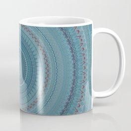 Faded Blue Bohemian Mandala Coffee Mug