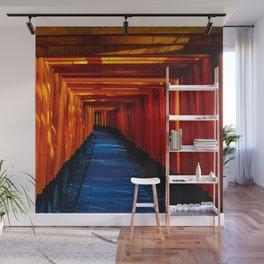 Japan Photography - Fushimi Inari Taisha With Sun Shining In Wall Mural