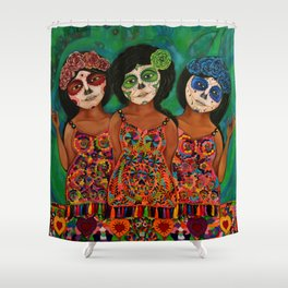 The three Catrinas Shower Curtain