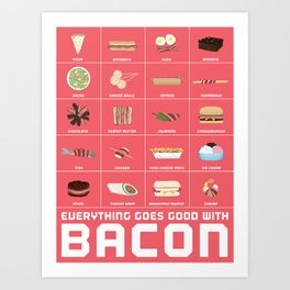 Bacon Poster Art Print