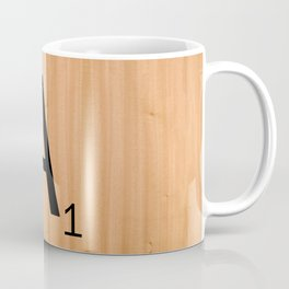 Scrabble Letter Tile - A Coffee Mug