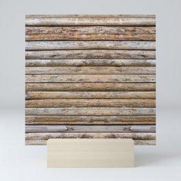 Wood Effects Raw Wood Log Cabin Lodge Rustic Mini Art Print