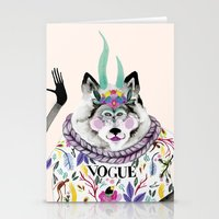 vogue Stationery Cards featuring Vogue by Tania Orozco