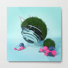 - Glass in Grass - Abstract Idea Metal Print